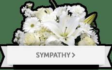 Sympathy and funeral flower arrangement
