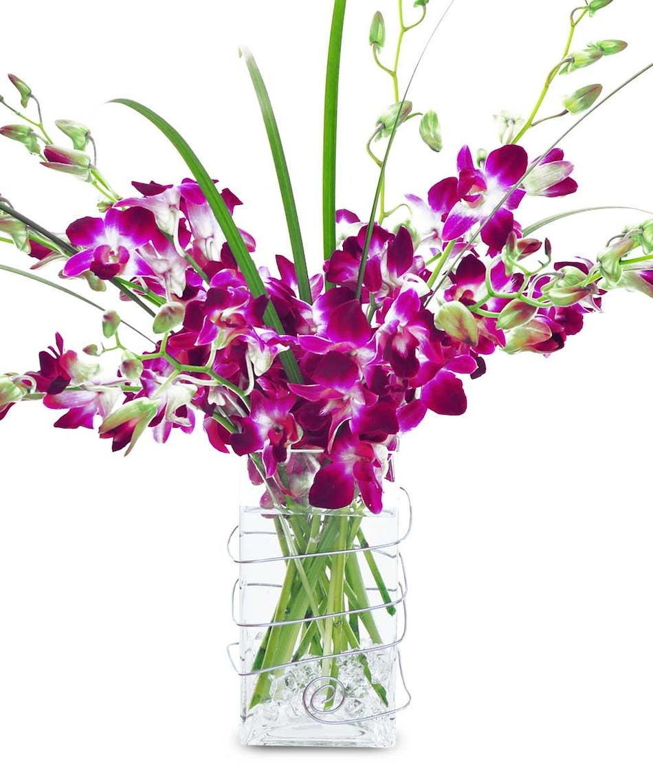 Mothers day flowers orchid bouquets anchorage ak flower delivery tropical dendrobium orchids with lily grasses in a stunning bouquet izmirmasajfo