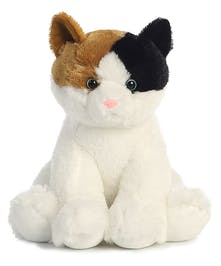 Soft, plush calico colred kitten plushie