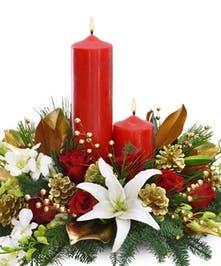 Holiday Centerpiece Pillar