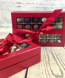 Keepsake box of hand-crafted chocolates