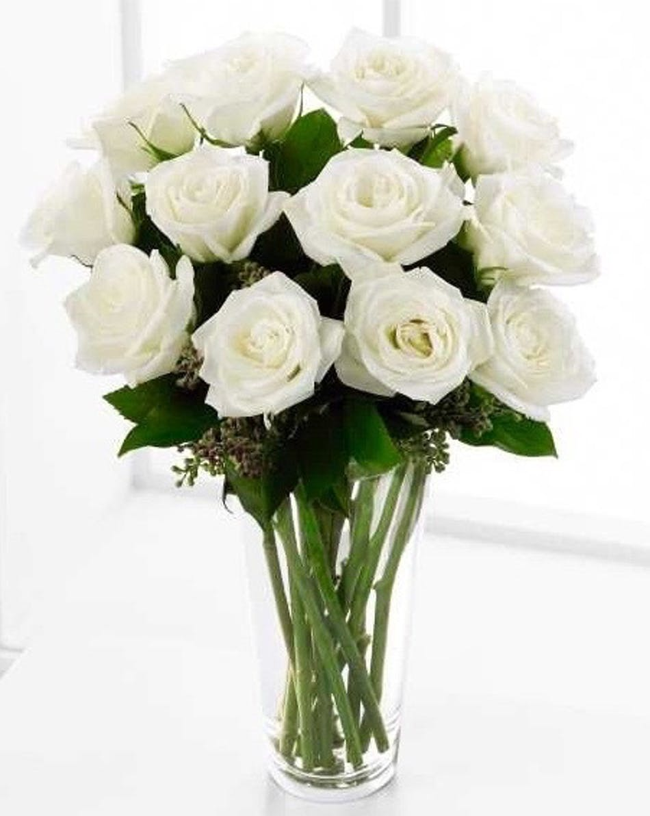 White Rose Bouquet Roses Bagoys Florist Anchorage Ak