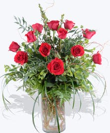 Large elegant rose bouquet designed with a contemporary design
