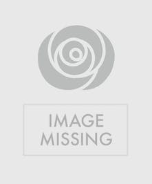 Roses in varied pinks, stargazer lilies and orchids in glass vase