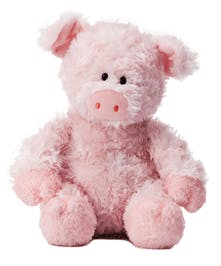Pink and perfect plush pig
