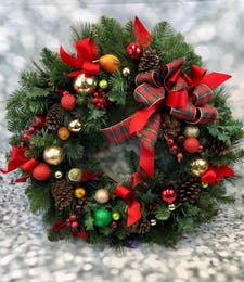 Holly Jolly Holiday Wreath