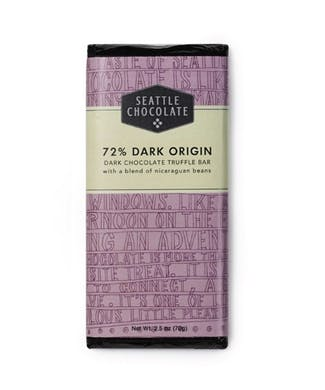 72% Dark Origin Chocolate Bar