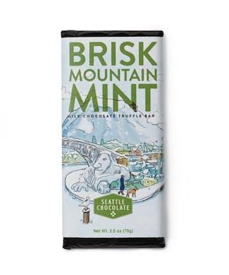 Brisk Mountain Mint Chocolate Bar